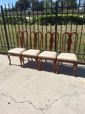 All 4 Wooden Chairs $30 DELIVERY AVAILABLE 🚗 for Sale in Bonita Springs, FL
