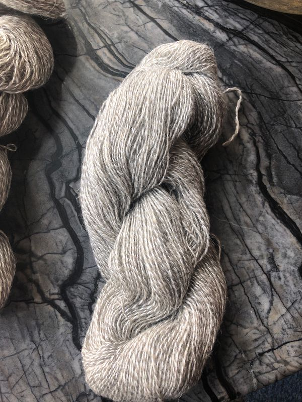 Organic wool/linen Priced per skein—yarn from Sweden—100g per skein—6 available