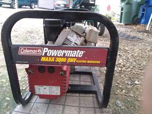 Coleman Powermate 3,000 watt generator for Sale in BELLEAIR BLF, FL