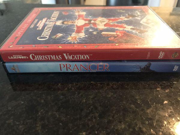 2 Christmas movies, Christmas Vacation and Prancer