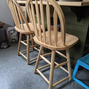2 Tall Wood Chairs for Sale in Milwaukie, OR
