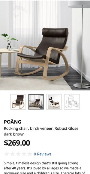 Leather & Wooden Rocking Chair for Sale in San Francisco, CA