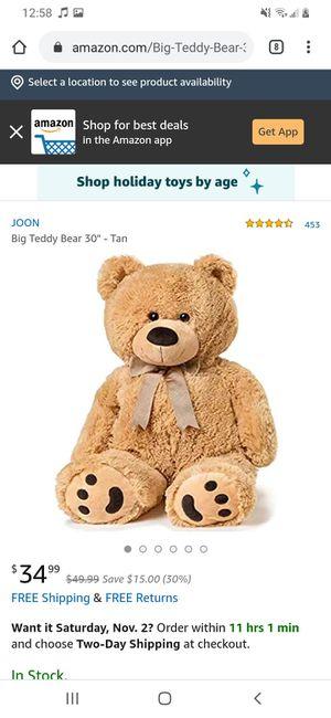 Big Ted teddy bear for Sale in Ann Arbor, MI