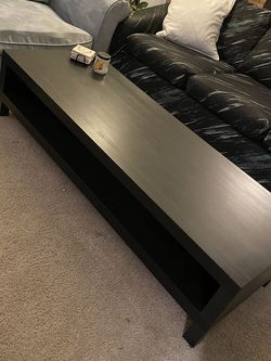 Black IKEA Coffee Table/TV Stand for Sale in Lake Oswego, OR