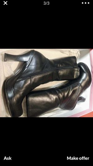Gianni Bini boots - leather - great for witch wench pirate steampunk HalloweenCostume size 7 for Sale in Brandon, FL