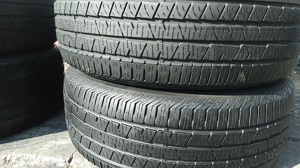 Two matching continental tires for sale 235 /60/18