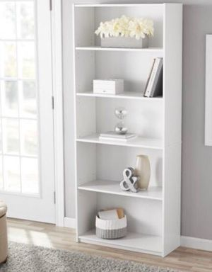 Brand New 5 shelf bookcase white (have 2) for Sale in Fort Worth, TX