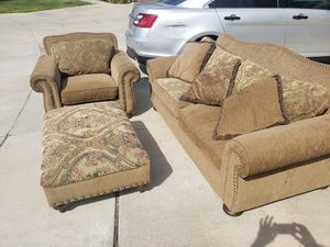 Couch, chair, and ottoman set for Sale in Winchester, CA