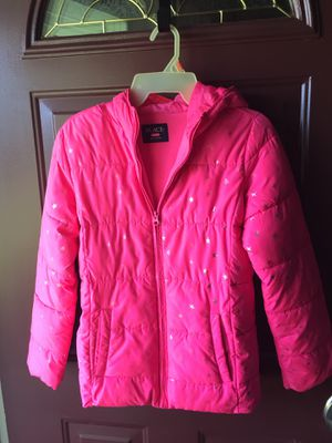 Hot Pink with Stars Girls Winter Coat Size XL 14 for Sale in Lockport, IL