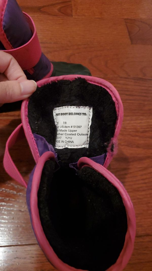 Girls Winter Boots Size 7/8