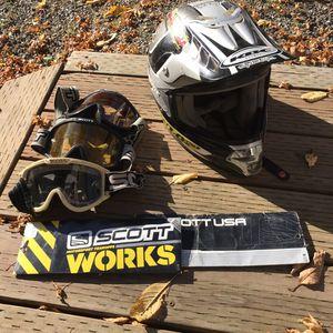 KBC Dirt bike helmet and Scott goggles Motocross for Sale in Gig Harbor, WA