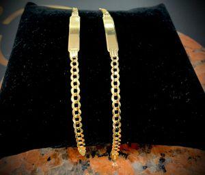 10k yellow gold name tag bracelet for Sale in Miami Gardens, FL