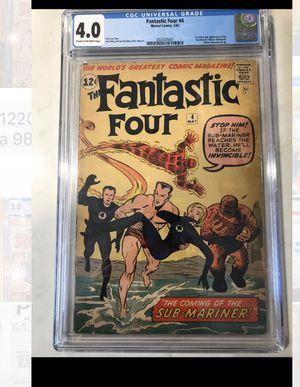Fantastic four 4 cgc 1st Submariner Comics for Sale in Los Angeles, CA