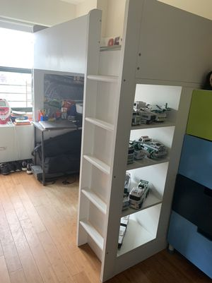 Stuva Loft twin bed with 4 drawers/ 2 blue closet doors for Sale in The Bronx, NY
