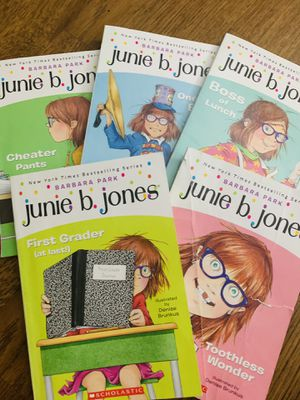 Junie b Jones. Very interesting and will make your kid love to read more. 76-90 pages each book. Perfect for 2-3 rd grader. for Sale in Schaumburg, IL