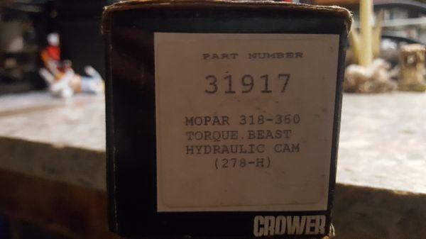 Crower CAM Mopar Torque Beast 318-360 for Sale in Montesano, WA - OfferUp