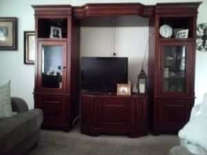 Big solid wood entertainment center for Sale in Carmichael, CA