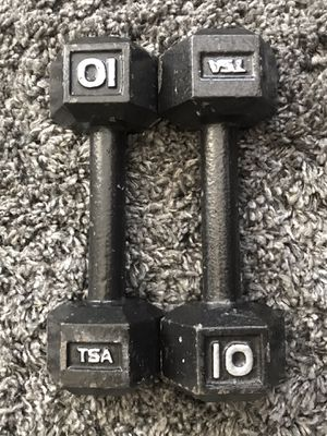 TSA 10 POUND DUMBBELLS WEIGHTS •WORKOUT•CURL•WEIGHT• for Sale in Las Vegas, NV