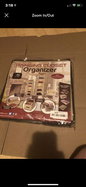 Hanging closet organizer for Sale in Barbourville, KY