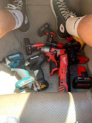 Makita and Milwaukee tools and batteries for cheap for Sale in Solvang, CA