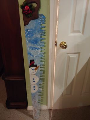 """Vintage saw with hand painted snowman 52"""" for Sale in Conroe, TX"""