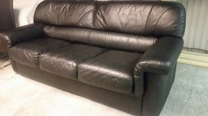 Nice Black Leather Sofa for Sale in Bellevue, WA