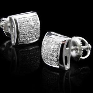 Captivating 1/2 CTW Diamonds Designer Womens Earrings / 14K White Gold Over Solid Sterling Silver for Sale in Los Angeles, CA