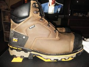 New Timberland Boondock work boots for men composite safety waterproof size 9 $125 for Sale in Montebello, CA