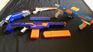 ****NERF GUNS - ELITE LOT OF 4 with darts***** for Sale in Pembroke Pines, FL