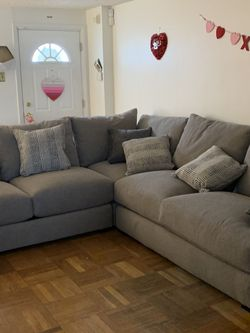 Brand New-Gray Broyhill Highland 3 Piece Sectional. Removable Cushions for Sale in Philadelphia,  PA