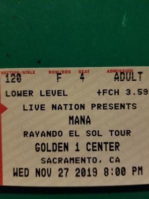 Mana Concert tickets 11/27/19 for Sale in Modesto, CA