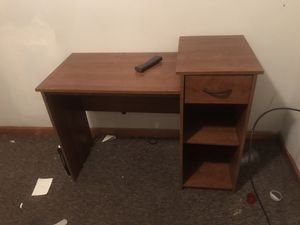 Desk with drawer and storage shelves! for Sale in Nashville, TN
