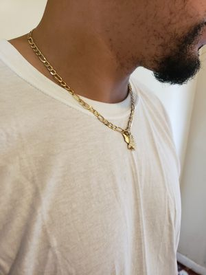 14k gold chain and 18k gold charm for Sale in Philadelphia, PA