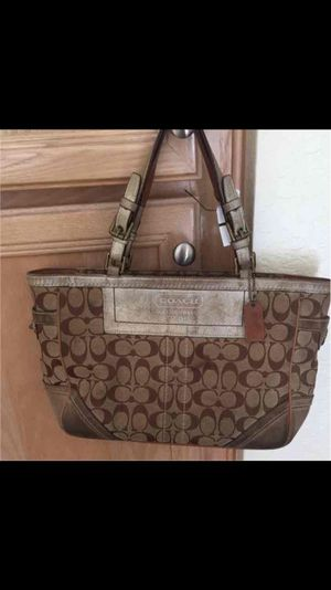 Tan coach purse for Sale in Poway, CA