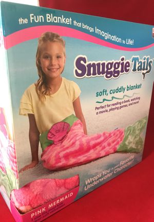 Brand new as seen on TV pink mermaid Snuggie tails cuddly blanket for Sale in Indianapolis, IN