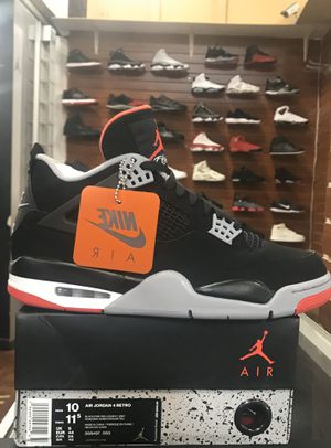 Holiday SPECIAL AIR Jordan RETRO 4 BRED 2019 Size 7 & 10 left brand new with the original box and the receipt, 100% AUTHENTIC at M. inside DESERT SKY for Sale in Phoenix, AZ