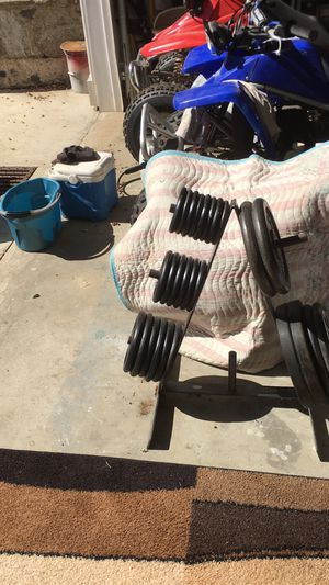Barbells and rack for Sale in NY, US