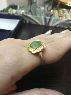 Golden malachite ring for Sale in Akron, OH