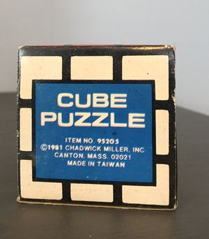 1981 Cube Puzzle by Chadwick Miller, Inc with original box for Sale in Warwick, RI