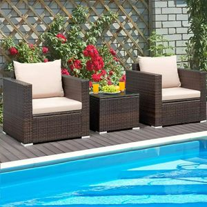 Patio Wicker Sofa Set 3pc Free 7 Day Delivery for Sale in Linthicum Heights, MD