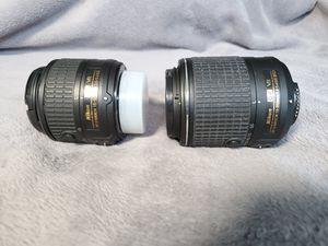 2 Nikon Lenses | 18 -55mm and 55 -200 mm for Sale in Marietta, GA