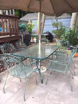 Patio set 7 piece wrought iron for Sale in Milton, MA