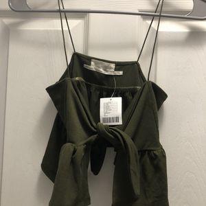 Green Tie Up Top for Sale in Meriden, CT