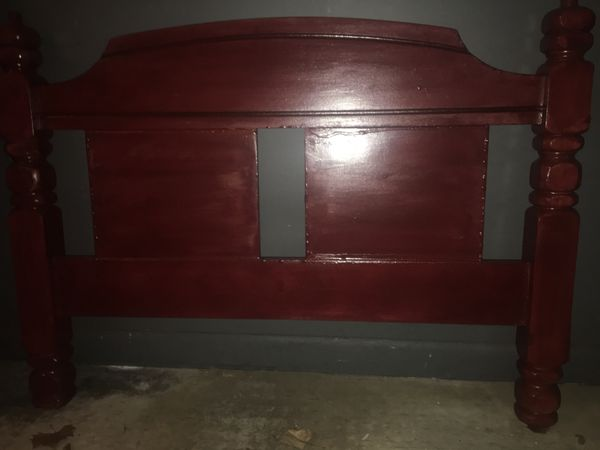 Refinished twin size bed frame