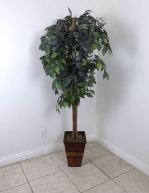 """Artificial Faux Green Ficus Potted Plant Tree 62"""" Tall Home Patio for Sale in Los Angeles, CA"""