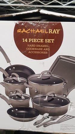 RACHEL RAY SER DE SARTENES DE 14 PIEZAS 14 PIECES NON STICK!NEW for Sale in Houston,  TX