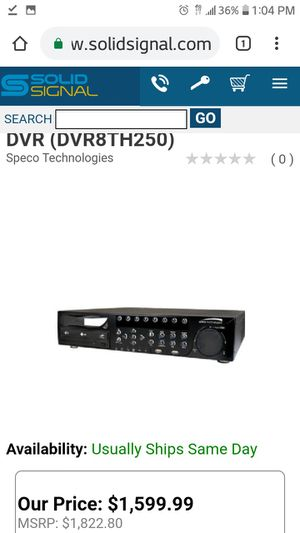8 CHANNEL DVR WITH BURNER for Sale in Fountain, CO