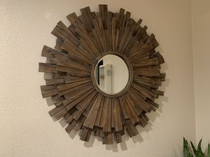 Round Wooden Mirror for Sale in San Jose, CA