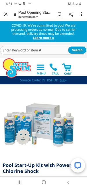 Pool chemical kit NEW for Sale in Dallas, TX