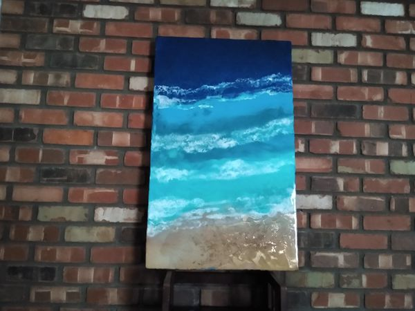 Awesome Epoxy Resin Wall Art - Reduced Holiday Price!